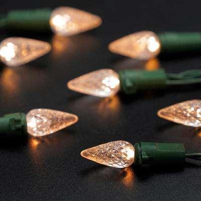 8 ft. 20-Light LED Warm White Battery Operated C3 LED Light String