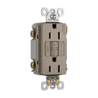 15 Amp 125-Volt 2-Outlet Self-Test GFCI - Nickel