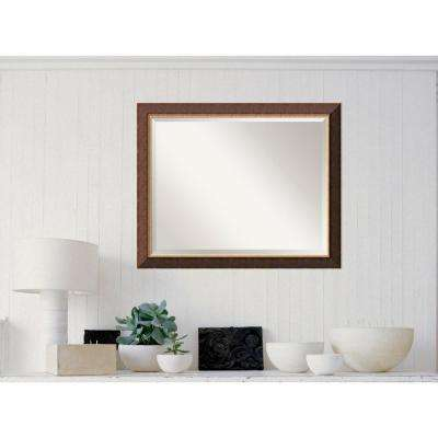 Old World Bronze Wood 0 Traditional Framed Mirror