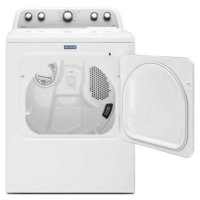 7.0 cu. ft. 120 Volt White Gas Vented Dryer with Sanitize Cycle