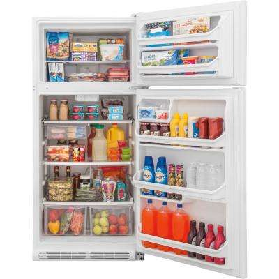 18 cu. ft. Top Freezer Refrigerator in White, ENERGY STAR