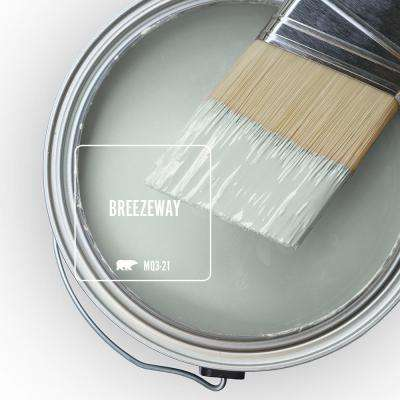 5 gal. #MQ3-21 Breezeway Satin Enamel Exterior Paint and Primer in One