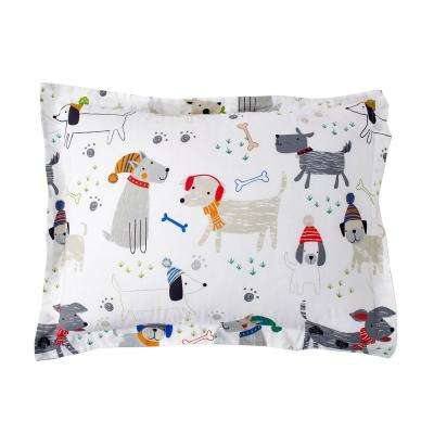 Playful Pups 200-Thread Count Cotton Percale Sham