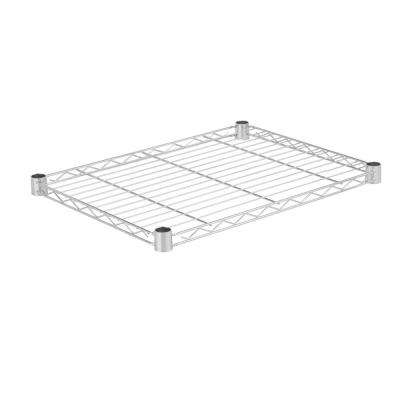 1.5 in. H x 18 in. D x 24 in. W Steel Shelf in Chrome
