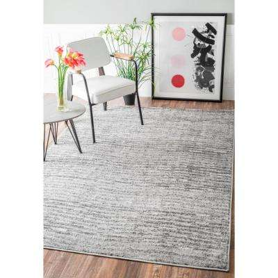 Sherill Contemporary Ripples Gray 8 ft. x 10 ft. Area Rug