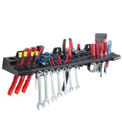 24 in. Grey Wall Mount Tool Organizer Shelf