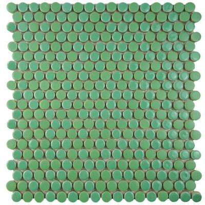 Comet Penny Round Capri 11-1/4 in. x 11-3/4 in. x 9 mm Porcelain Mosaic Tile