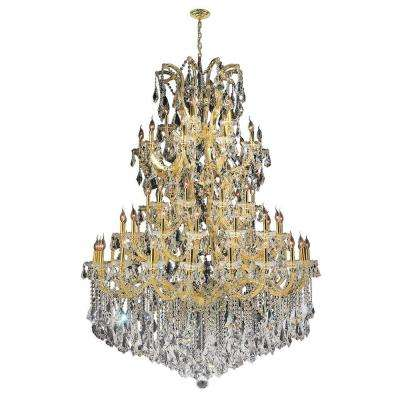 Maria Theresa 61-Light Gold with Double Cut Crystal Chandelier