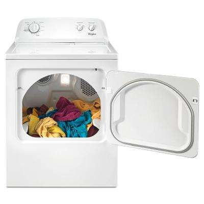 7.0 cu. ft. 120 Volt White Gas Vented Dryer with AUTODRY