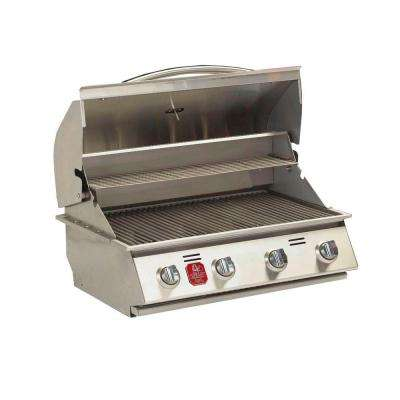 4-Burner Built-in Natural Gas Grill in Stainless Steel