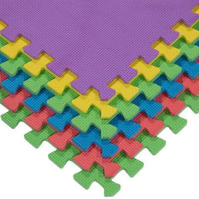 Multi-Purpose Multi-Color 24 in. x 24 in. EVA Foam Interlocking Anti-Fatigue Exercise Tile Mat (6-Pack)