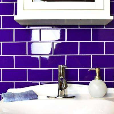 Park Slope Royal Blue 3 in. x 6 in. Ceramic Wall Subway Tile (19.18 sq. ft. / case)