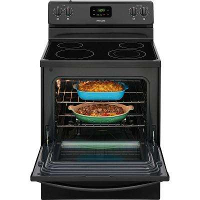 30 in. 4.9 cu. ft. Electric Range in Black