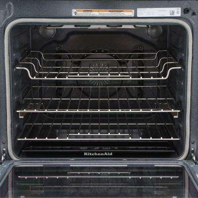 30 in. 6.4 cu. ft. Slide-In Electric Range with Self-Cleaning Convection Oven in Stainless Steel