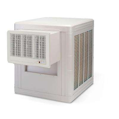 5000 CFM 2-Speed Front Discharge Window Evaporative Cooler for 1600 sq. ft. (with Motor and Remote Control)