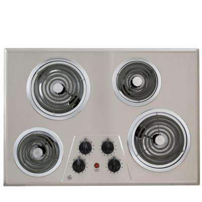 GE 30 in. Coil Electric Cooktop in Stainless Steel with 4 Elements GE