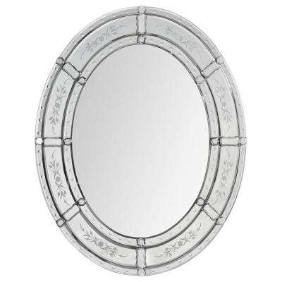 Luna 30 in. x 24 in. Transitional Framed Mirror