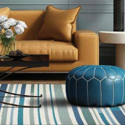 Sea Breeze Stripes Teal 5 ft. x 7 ft. Indoor/Outdoor Area Rug
