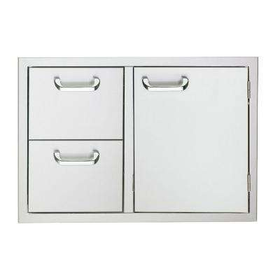 30 in. Storage Door and Fully Enclosed Double Drawers
