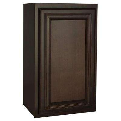 Assembled 18x30x12 in. Cambria Wall Cabinet in Java