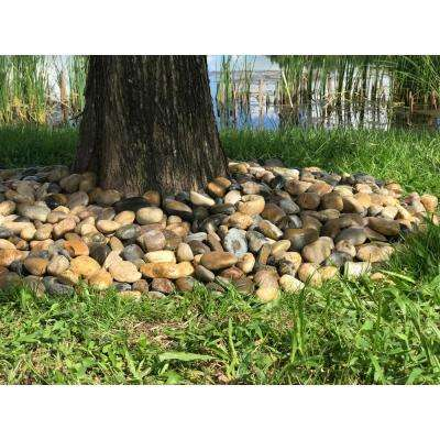 0.40 cu. ft. 2 in. to 3 in., 30 lbs. Grade-A Medium Mixed Polished Pebbles