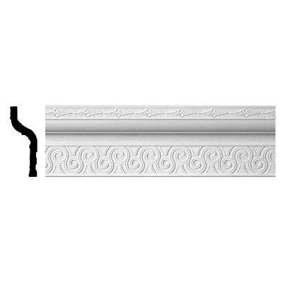 3-3/4 in. x 8-3/8 in. x 96 in. Polyurethane Bedford Crown Moulding
