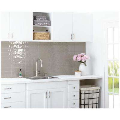 LuxeCraft Gray 3 in. x 12 in. Glazed Ceramic Wall Tile (12 sq. ft. / case)