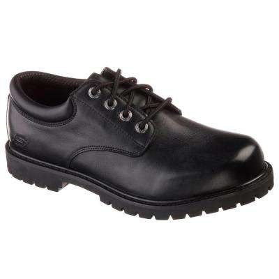 Cottonwood - Elks Men Black Leather Work Shoe