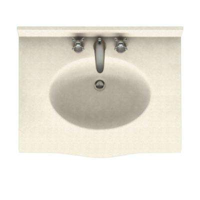 Europa 25 in. Solid Surface Vanity Top with Basin in Pebble