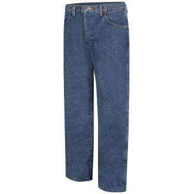 EXCEL FR Men's Stone Wash Loose Fit Stone Washed Denim Jean