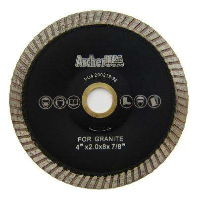 4 in. Turbo Contour Diamond Blade for Curved Cutting