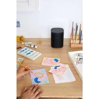 One (Gen 2) Black Smart Speaker with Google Assistant