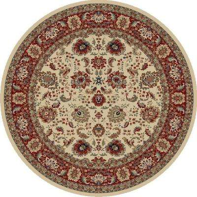 Verona Tabriz Ivory 7 ft. 10 in. x 7 ft. 10 in. Round Area Rug