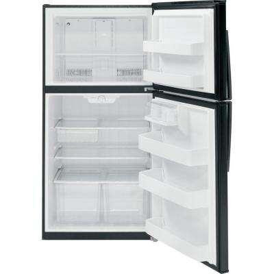 21.1 cu. ft. Top Freezer Refrigerator in Black, ENERGY STAR