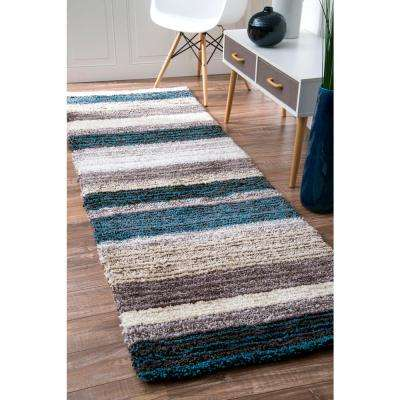 Don Blue Multi 3 ft. x 8 ft. Runner Rug