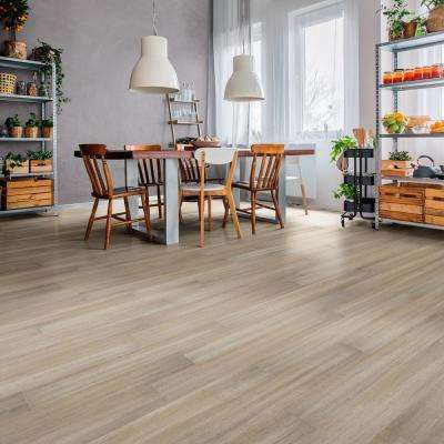 Hand Scraped Strand Woven Mojave 7 mm T x 5.2 in. W x 36.22 in. L Click Bamboo Flooring (13.07 sq. ft. / case)