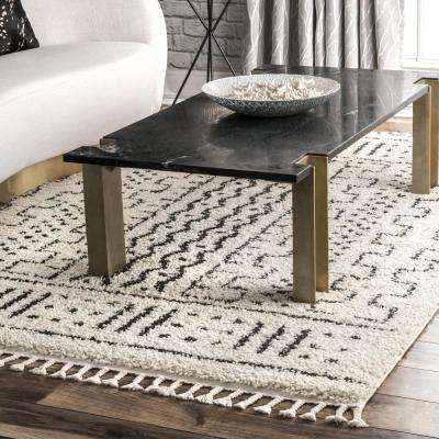Sophie Modern Moroccan Shag Off-White 5 ft. x 8 ft. Area Rug