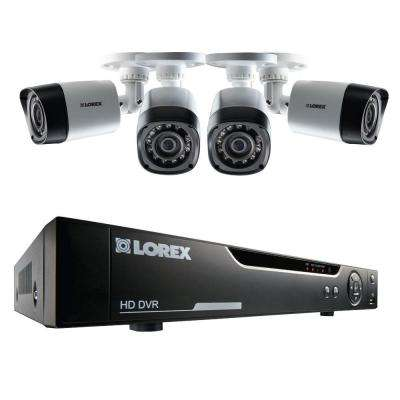 4-Channel High Definition 720p Surveillance System with 1TB HDD and 4 Bullet Cameras