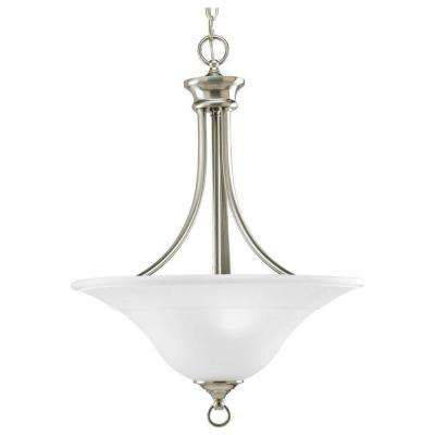 Trinity Collection 3-Light Brushed Nickel Foyer Pendant