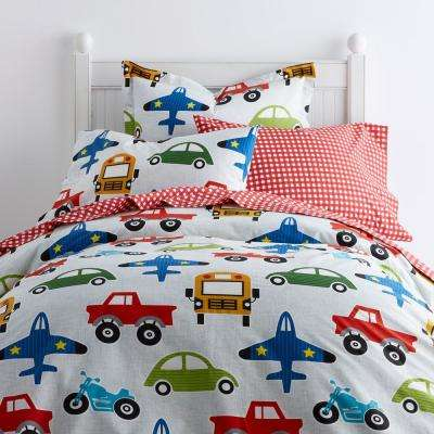 Going Places 200-Thread Count Cotton Percale Duvet Cover