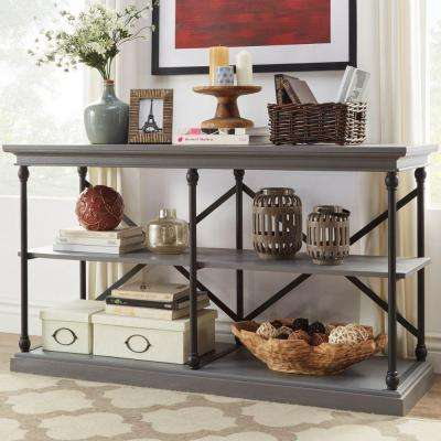 Manor Drive 2-Shelf TV Stand in Grey