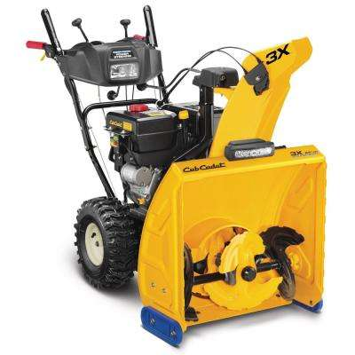 3X HD 24 in. 277cc Three-Stage Electric Start Gas Snow Blower with Steel Chute, Power Steering and Heated Grips