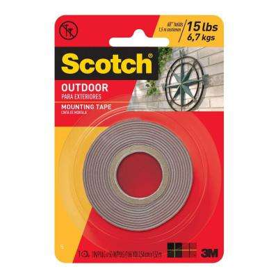 Scotch 1 in. x 1.66 yds. Outdoor Mounting Tape