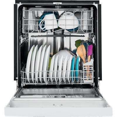 Front Control Dishwasher in White with Stainless Steel Tub, ENERGY STAR