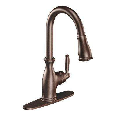 Brantford Single-Handle Pull-Down Sprayer Kitchen Faucet with Reflex in Oil Rubbed Bronze