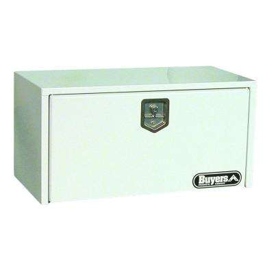 36 in. White Steel Underbody Tool Box with T-Handle Latch