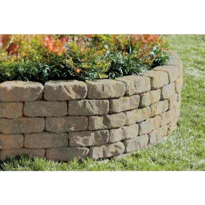 Beltis 4 in. x 11 in. x 6 in. Tan Charcoal Concrete Retaining Wall Block (140-Pieces/Pallet)