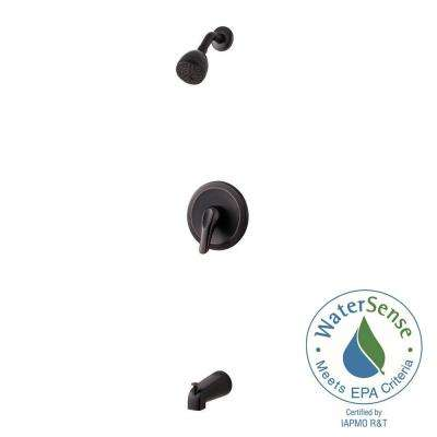 Pfirst Series 1-Handle Tub and Shower Faucet Trim Kit in Tuscan Bronze (Valve Not Included)
