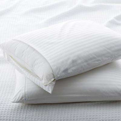 Damask Pillow Protector White