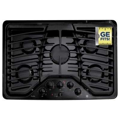 30 in. Gas Cooktop in Black with 5 Burners including 1 Power Boil